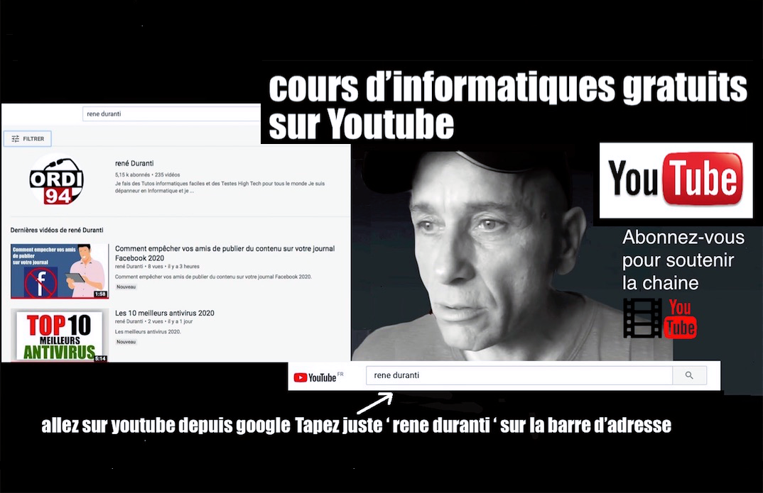 Formation gratuite sur Youtube